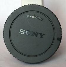 Sony E mount body cap in grey.