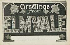 Lovely Ladies Large Letter Greetings From Elmvale, Ontario ON Canada