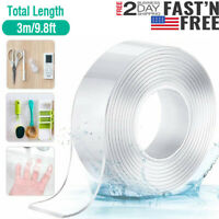 Nano Tape Double-sided Traceless Washable Adhesive Nano Invisible Reusable Gel