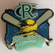 RC Ripcurl Fastpitch Girls Large Softball Pin Badge Rare Authentic Vintage (E2)