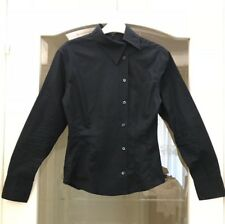 GUCCI black shirt with side button-up, ladies size 38 (UK 8 10) long sleeves