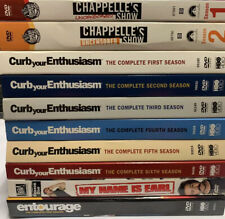 10 DVD SEASONS CHAPPELLE'S SHOW CURB YOUR ENTHUSIASM MY NAME IS EARL ENTOURAGE