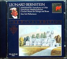 BERNSTEIN Royal E 38 HINDEMITH Symphony Symphonic Metamorphoses Concert Music CD