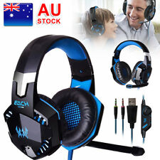 AU 3.5mm Gaming Headset MIC LED Headphone Surround for PC Laptop PS4 Xbox One TP