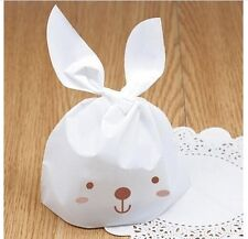 30ct Bunny DIY Party Favor Candy Cookies Loot Treat Cello Plastic Gift Bags