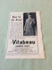m5-1 ephemera 1943 ww2 picture advert vitabeau trench coat now for the army