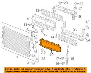 Buick GM OEM 17-18 Envision 2.5L-L4 Radiator-Air Inlet 23264679