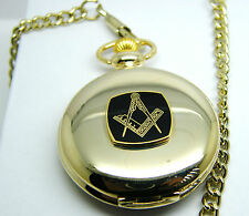 8a5bfb5a7 THE MASONIC CRAFT POCKET WATCH AND CHAIN SQUARE & COMPASS BADGE IN GIFT  POUCH