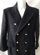 cappotto jacket doppiopetto lana marina uomo taglia 56 79fb950ada9