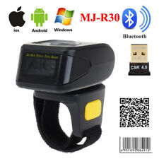 Wireless Bluetooth Portable Barcode Scanner 1D 2D Reader Wearable For IOS Win7/8