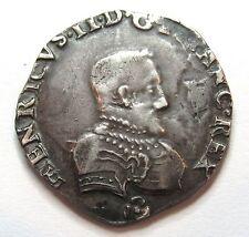 - CHARLES IX au nom de Henri II - Teston - 1561 Nantes - Petit Buste -