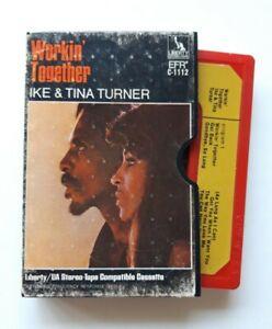 Ike & Tina Turner - Workin' Together 2 tone Cassette - Liberty Stereo Tape - USA
