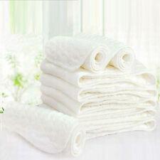 New 10 Pcs Baby Cotton Washable Reusable Soft Cloth Diaper Inserts 2016
