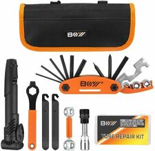 Bicycle Repair Bag & Bicycle Tire Pump, Home Bike Tool Portable Patches Fixes