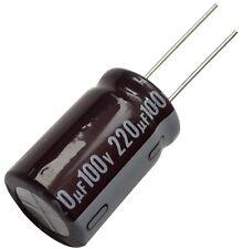 2x Condensateur chimique LOW ESR 220µF ±20% 100V THT -55..105°C 8000h Ø16x25mm