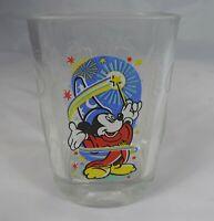 MICKEY MOUSE Fantasia Wizard Square Glass 2000 Walt Disney World Epcot McDonalds
