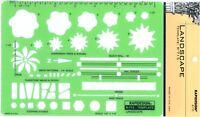 """Berol Rapidesign Template - Landscape 1/4"""" Scale  -R-715"""
