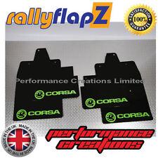 rallyflapz passend für Opel Corsa C (00-07) Schmutzfänger schwarz Logo hellgrün