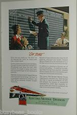 1947 Electro Motive Diesel ad, GM, Station, On Time