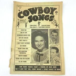 Vintage 1954 Cowboy Songs Magazine #37 American Folk Publications Hillbilly BK6