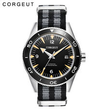 41mm CORGUET miyota 8215 movement Automatic mens watch black dial sapphire glass