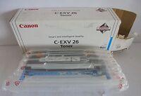 Original Canon Toner C-EXV26 C-EXV 26 Cyan f. Imagerunner C1021 C1022 C1028 NEU