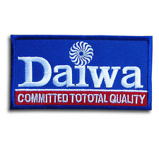 Blue Daiwa Fishing Patch Logo Emblem Badge Iron on Rod Reels Tackle Lures Trout