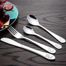 Tableware Set Cutlery Children Knive Fork Spoons Stainless Steel Dinner Set 4Pcs