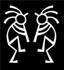 WHITE Vinyl Decal Kokopelli design Native American sticker Indian hunt fun