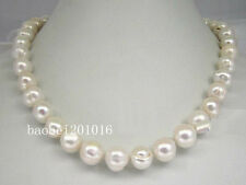 HUGE 11-12MM SOUTH SEA GENUINE WHITE PEARL NECKLACE 18 INCH