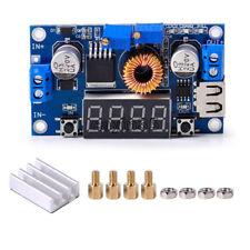 1PCS 5A CC CV LED Drive Lithium charger Power Step-down Module W/ USB Voltmeter