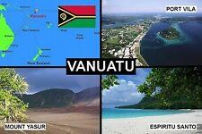 SOUVENIR FRIDGE MAGNET of VANUATU & NEW HEBRIDES