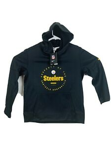 New Youth Nike Pittsburgh Steelers Therma-Fit AFC North Sweatshirt Hoodie Large