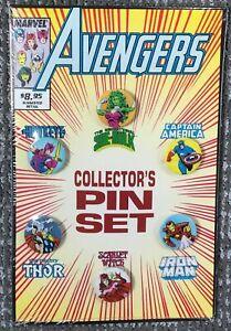 Avengers Collector's Pin Set SEALED Iron Man Thor She-Hulk Captain America MORE!