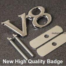 V8 parrilla insignia emblema del Metal del Cromo Calcomanía Coche Furgoneta Rejilla Nueva Alta Calidad v8g
