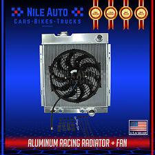 """3 ROW FULL ALUMINUM COOLING RADIATOR FOR 64-66 FORD MUSTANG V8 I6 MT+14"""" FAN"""