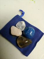 SELF LOVE Tumbled Crystal Healing Set  4 Stones Pouch