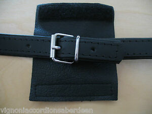 Accordion Strap Buckle scratch protector various Colours Italcinte Italy Leather