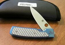 SPYDERCO New Titanium Centofante Memory With VG-10 Plain Edge Blade Knife/Knives