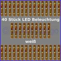S333 - 40 Stück LED Beleuchtung 5cm WEIß Häuser Waggons RC Modelle uvm.
