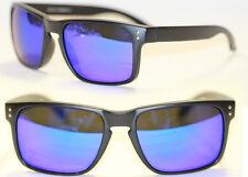 Sport Sonnenbrille Retro schwarz matt blau lila verspiegelt Herren u. Damen 751