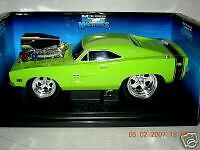 MUSCLE MACHINE RARE 69 CHARGER GREEN W/ CHROME 1:18 MIB