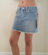 True Religion Skirt MINI SUPER T Denim Size 24 NEW