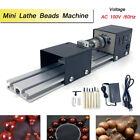 Mini Lathe Beads Polisher Machine Wood Lathe DIY Bench Top Lathe Tool 100W 110V
