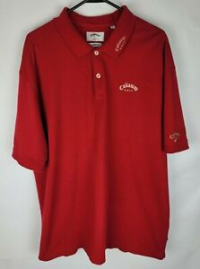 Callaway Golf Sport Collared Mens Size XXL Red 100% Combed Cotton Polo Shirt