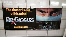 1992 DR. GIGGLES MOVIE THEATRE VINYL BANNER 4 X 10