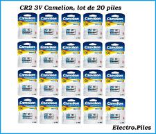 Lote de 20 baterías/células especiales fotos CR2 3V litio Camelion