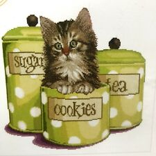 THEA Kitten Cross Stitch Kit 735A Cookie Time Cat Polka Dots Thea Gouverneur