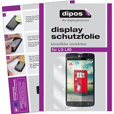 LG L80 Schutzfolie klar Displayschutzfolie Folie dipos Displayfolie Displayfolie