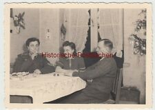 (F11215) Orig. Foto Familie Weihnachten zu Hause 1941, Wohnung in Köln, Mutter i